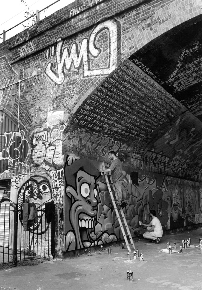 Charley McFarley & Arthur Rambo - Street Decorators, Mile End Park, Bow Common E3