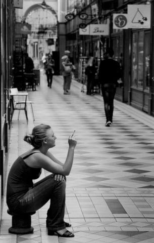 Taking a break, Passage du Grand Cerf