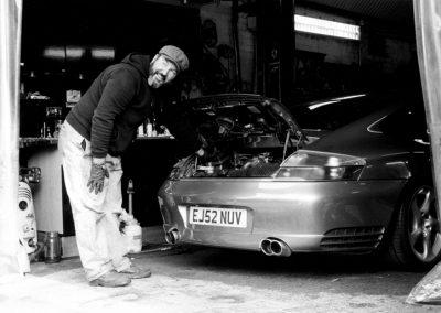 Paul and the Porsche, Prestige Autocare, Huddart Street, Bow E3