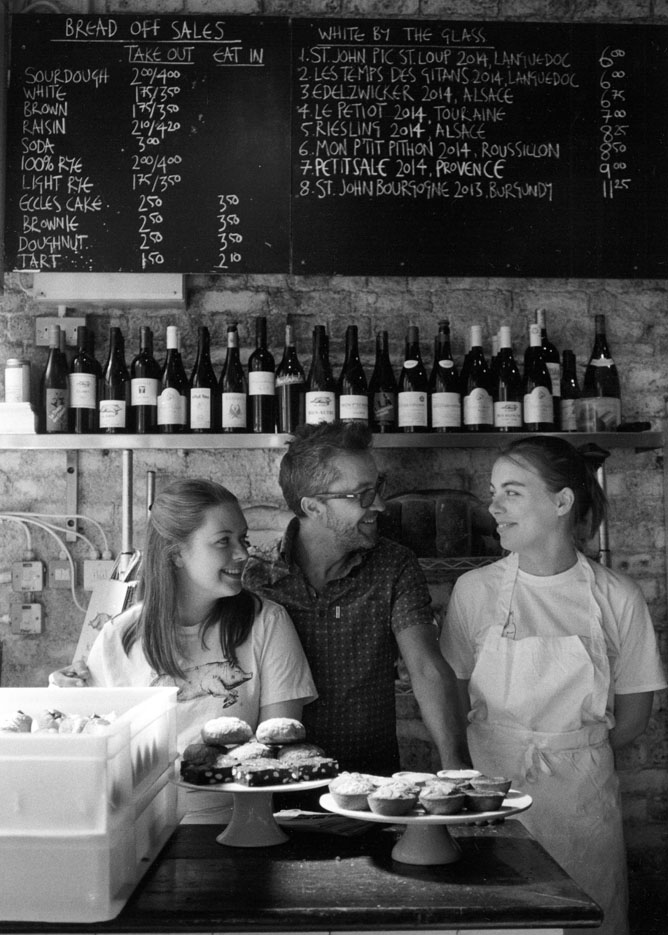 Lucy, Jose and Rosie, St John Restaurant, Ropewalk, Bermondsey SE16