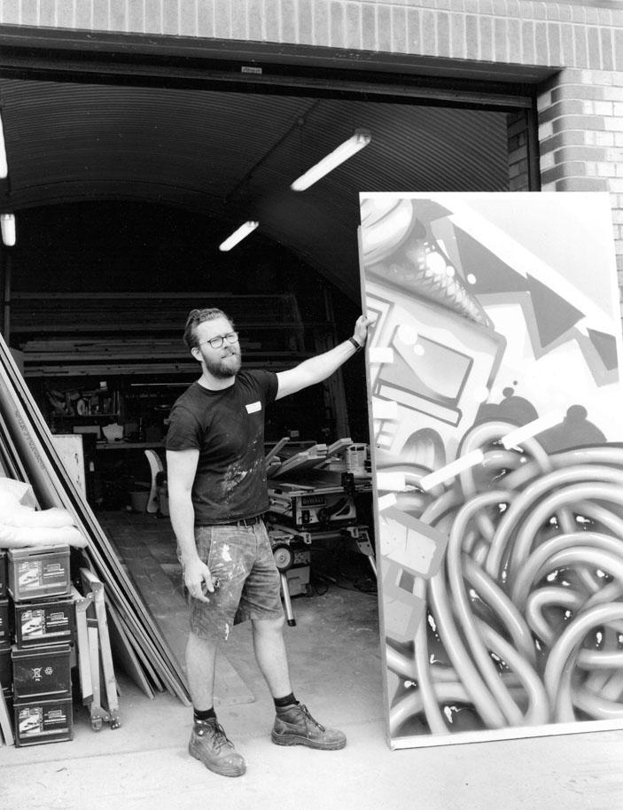 Nick - props maker, Rule One Productions, Tilbury Road, Leyton Midland Road E10