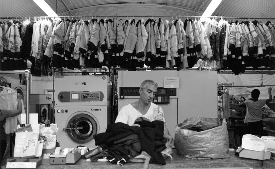Mel at E1 Drycleaners, Cannon Street Row, Shadwell E1