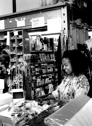 Ruth with trimmings, Fabian's Habadashery and Trimmings, Cannon Street Road, Shadwell E1