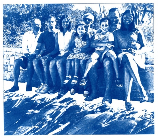 English Idioms: ... Blood is thicker than Water. (Cyanotype photocomposite)