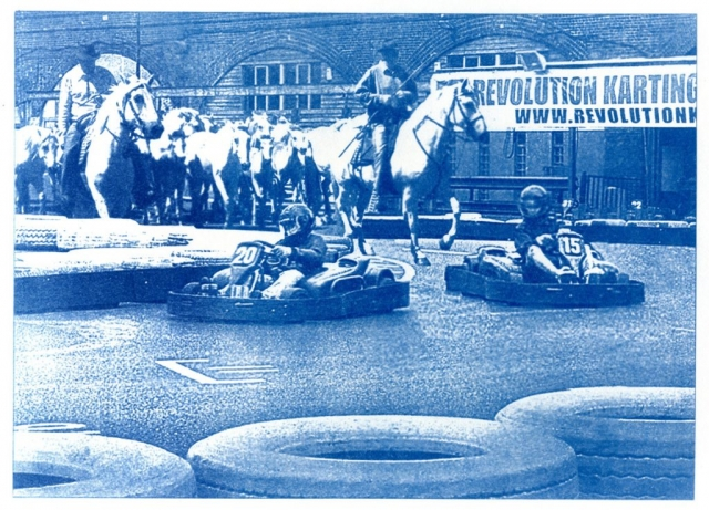 English Idioms: you've put the Cart before the Horse (Cyanotype photocomposite)