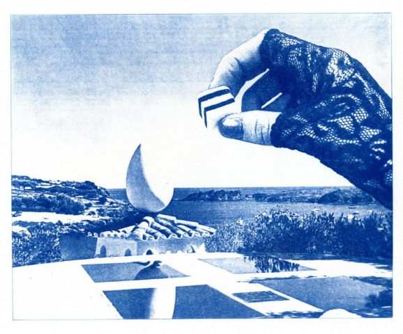 Dali's Hand (Cyanotype photocomposite)