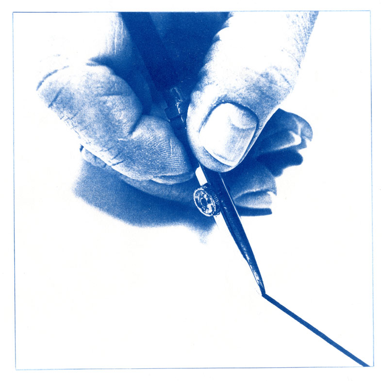 English Idioms: Draw the line under it (Cyanotype photocomposite)