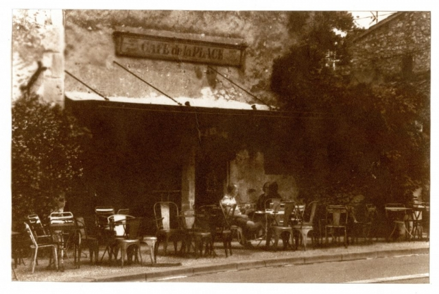Van Dyke print: Cafe de la Place, Eygalieres France