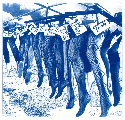 English Idioms: ...you havn't got a leg to stand on. (Cyanotype photocomposite)