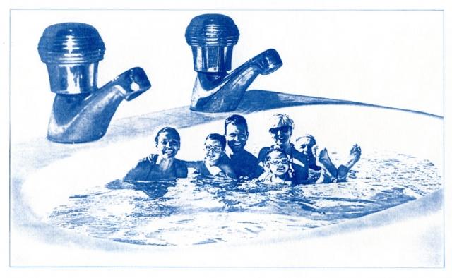 English Idioms: ...it's Sink or Swim. (Cyanotype photocomposite)