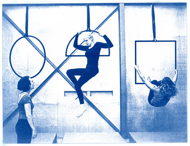 English Idioms: that Square's the Circle (Cyanotype photocomposite)