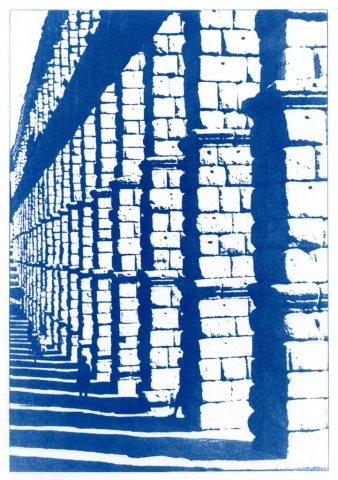 English Idioms: ... you've Stepped out of the Shadows. (Cyanotype photocomposite)