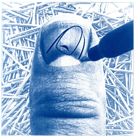 English Idioms: a Thumbnail Sketch (Cyanotype photocomposite)